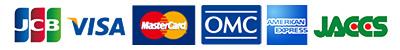 JCB VISA MasterCard OMC AMERICAN EXPRESS JACCS